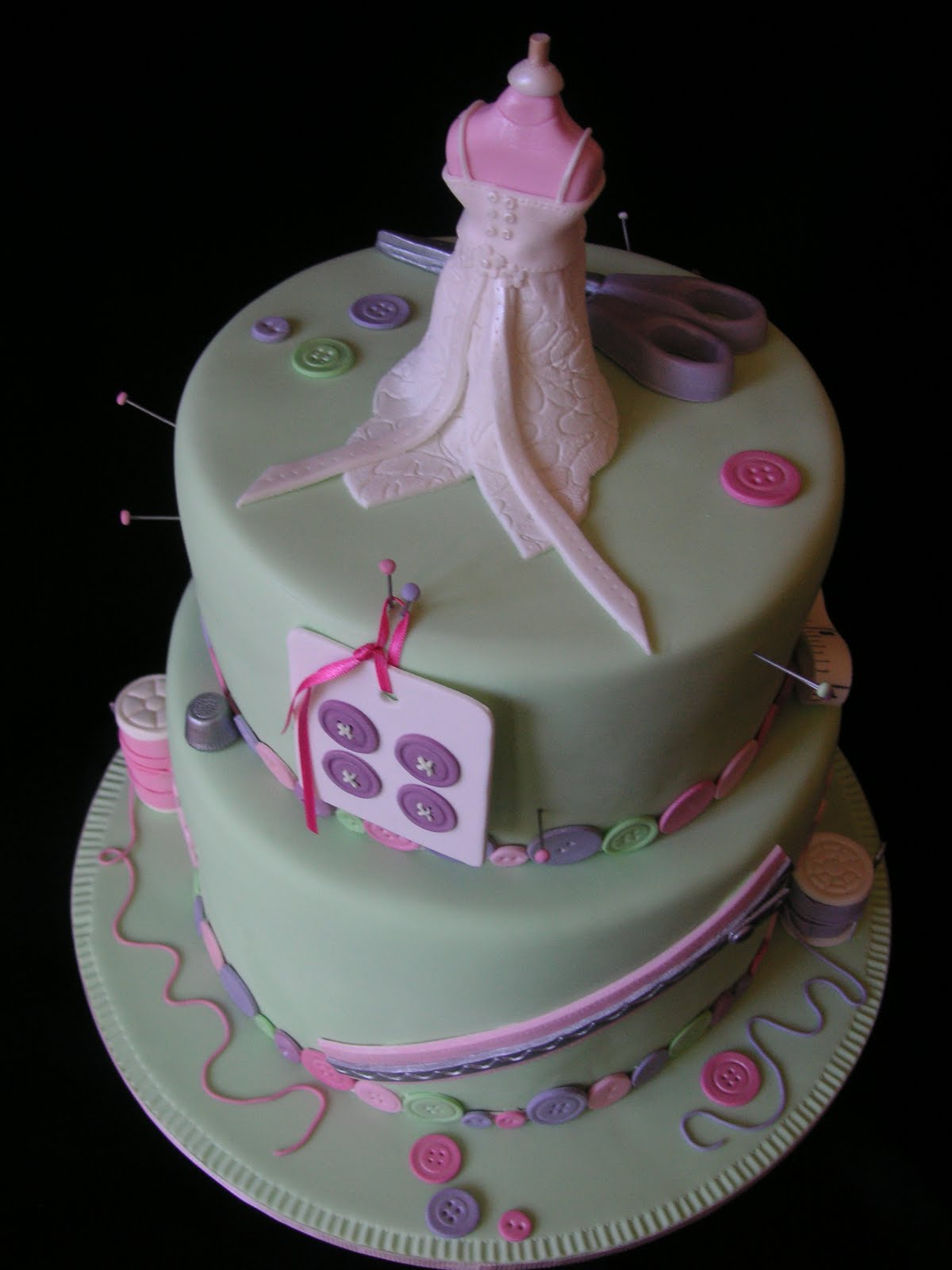 Coolest Cupcakes Sewing 80th Birthday Cake