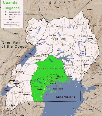 maps of uganda. images Map of Uganda map of