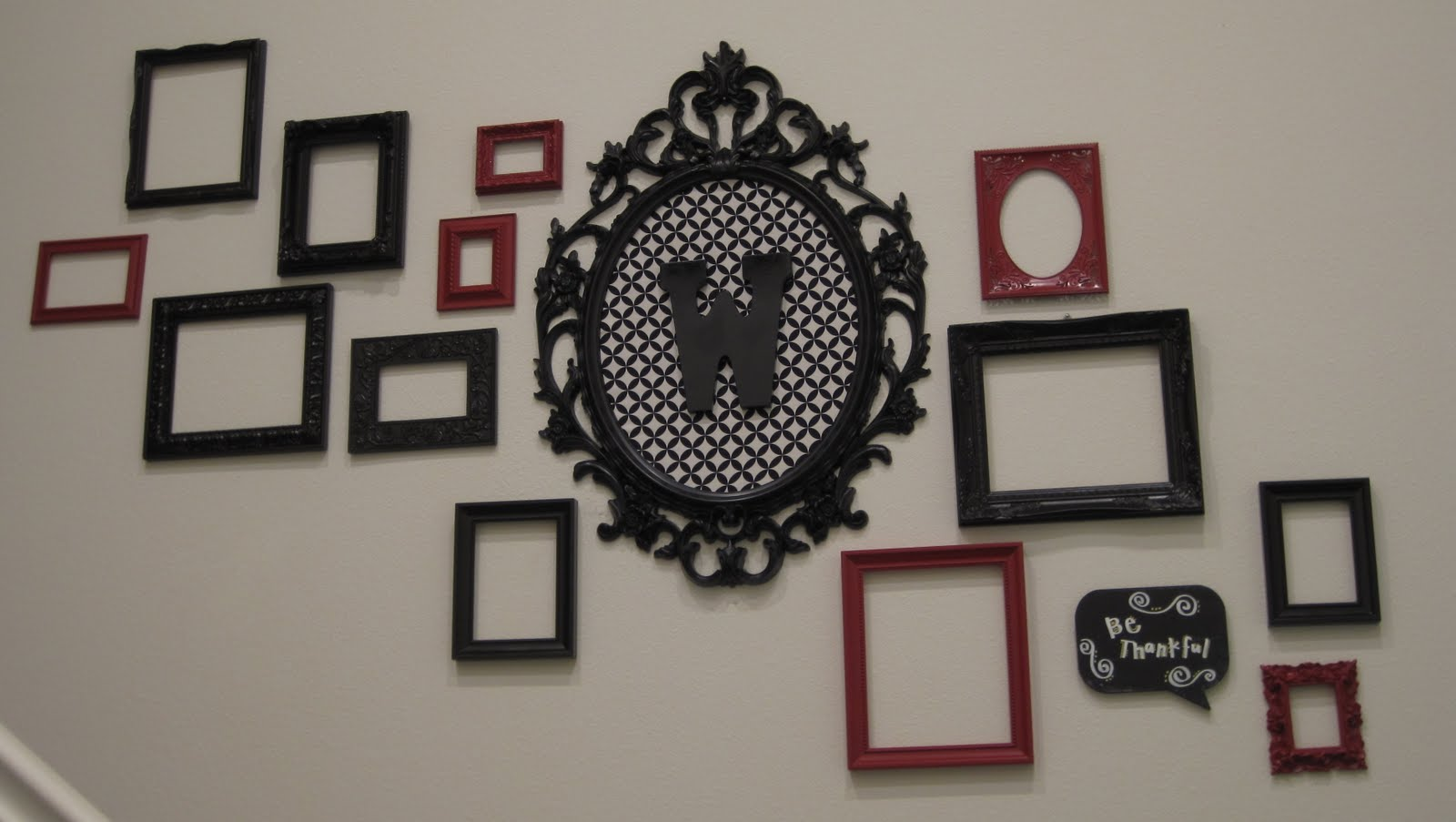 Mike and Erica: Vintage Frame wall....Complete!!