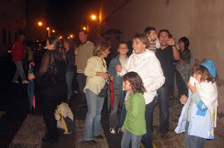 Espectadors al correfoc de Vinalesa