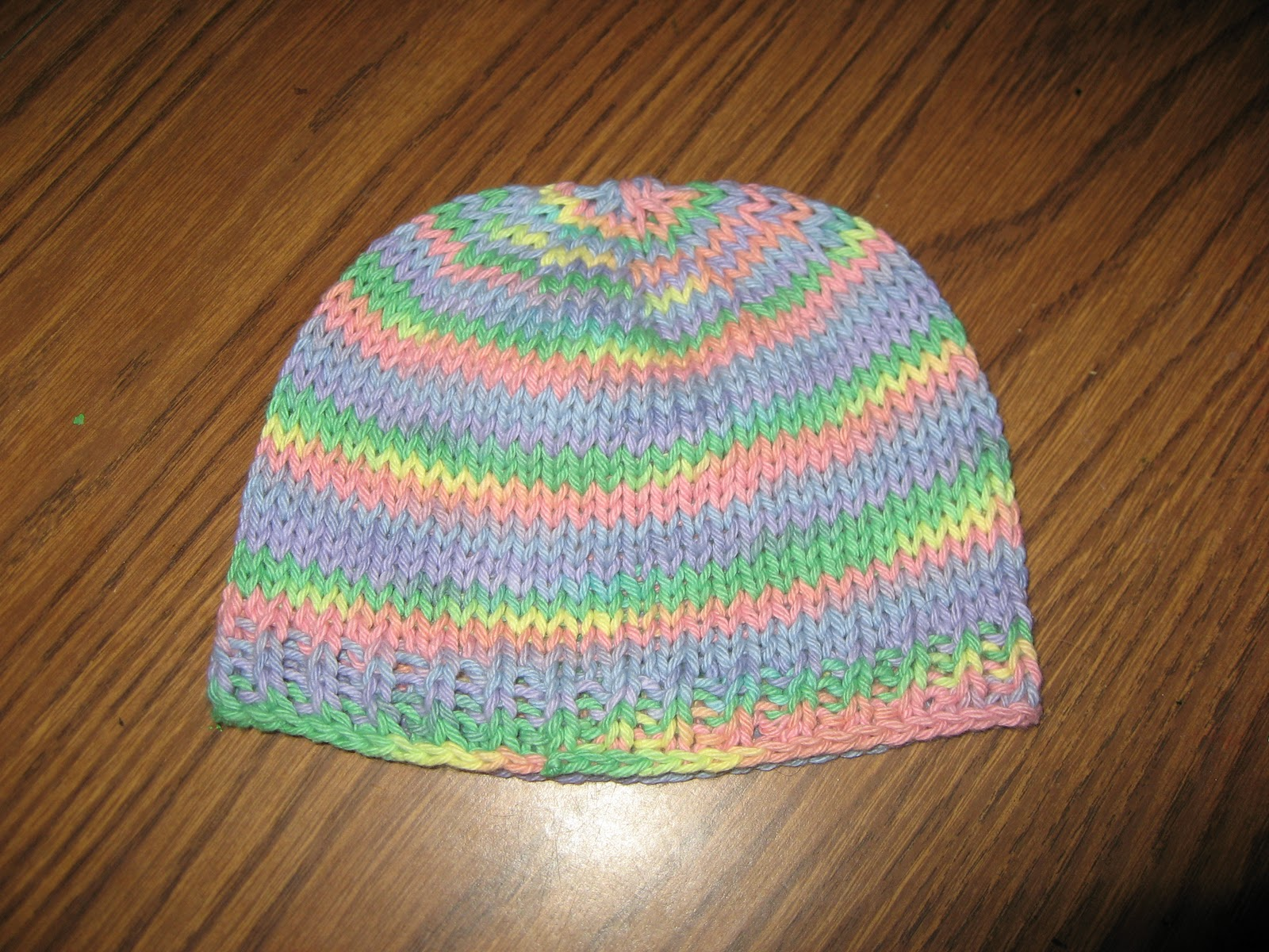 Knook Knitting Patterns : Id Rather Be Knooking: Knooked Hat Crown Down FREE PATTERN
