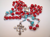 Custom Made Sacred Heart Rosary (SOLD)