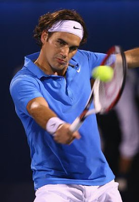 Roger Federer Tennis Serving 2009 Picture