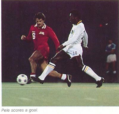 Franz Beckenbauer Hitting A Ball