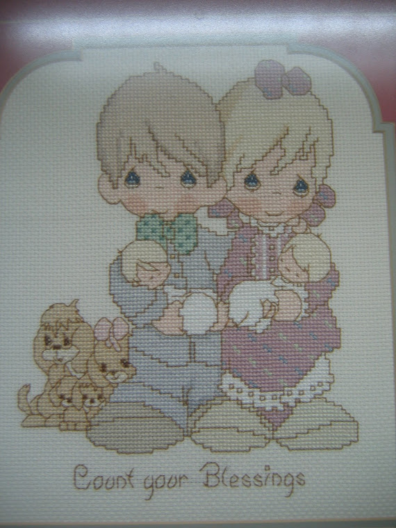 Cross stitch done my patient