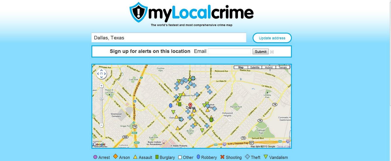 Crime Maps Around the World: Dallas Texas Crime Map on