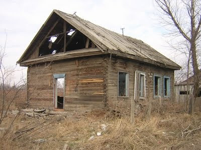 abandoned wood house