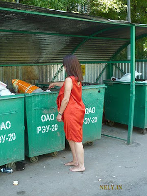 girl and garbage