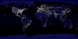 Mapa de contaminación lumínica