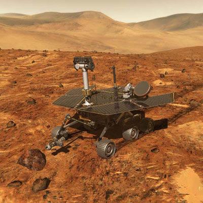 Ilustración de un Rover de NASA