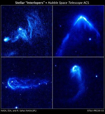 Estrellas fugitivas vistas por Hubble