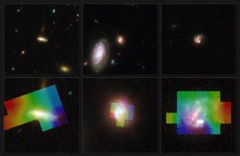 Galaxias distantes vistas por Hubble y VLT