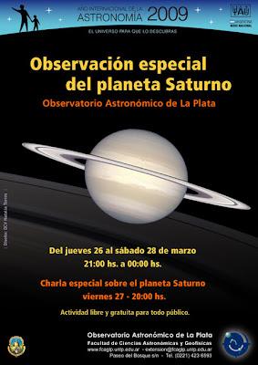 Poster Observación Especial del Planeta Saturno