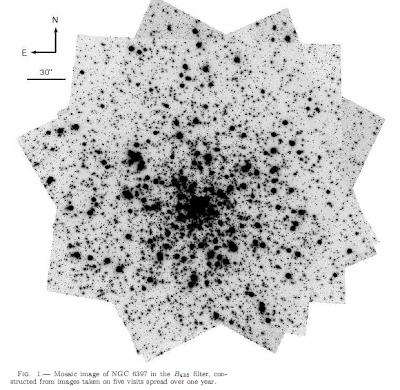 Mosaico de imágenes de NGC 6397