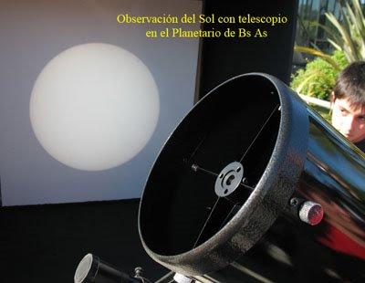 Astronomía de día en el Planetario