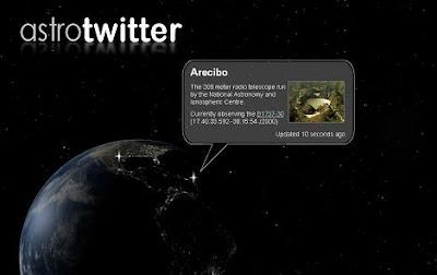 AstroTwitter en TwittEarth