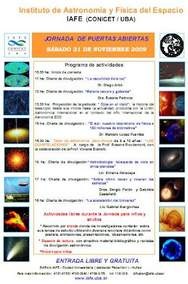 Imagen del póster de actividades