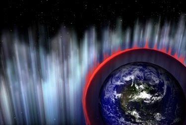 Ilustración estallido energía Tierra