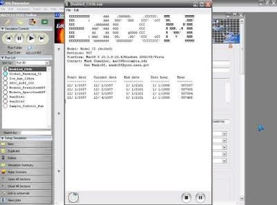 Ventana Fortran de simulación en EdGCM