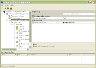 Microsoft Enterprise Library Configuration for the Validation Application Block