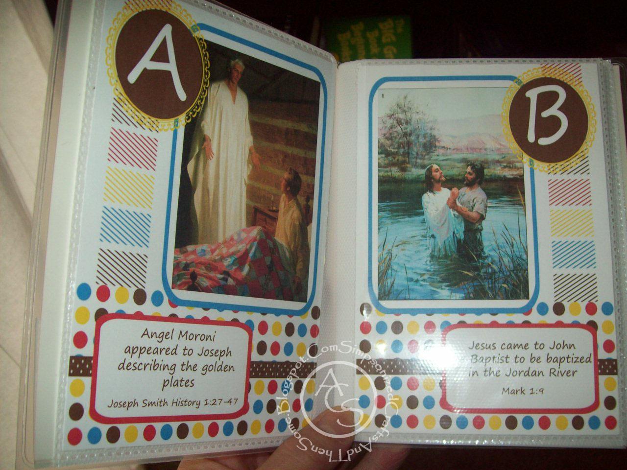 Scrapbook ideas abc album - Printable Abc Church Quiet Book Latter Day Saints