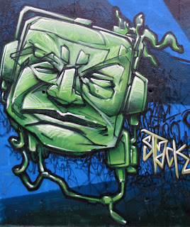Graffiti Green Face