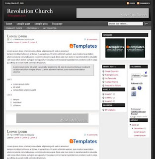 revolution_church_blogger_template 3 column
