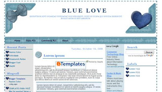 blue love template,template adsense,template 4 column