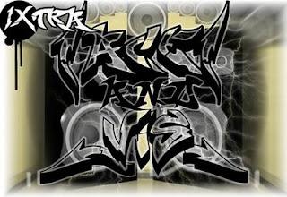 black tag graffiti alphabet letters - black new graffiti