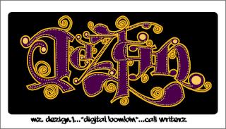 graffiti violet, alphabet gemini