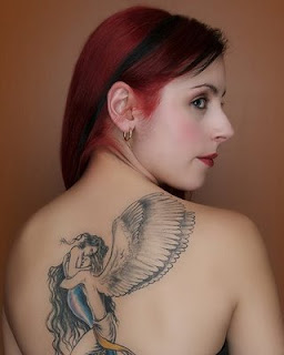 tattoos girls, lower back girl, tatto design