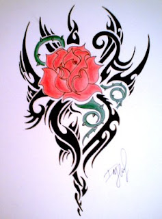 rose tribal tattoos for girls
