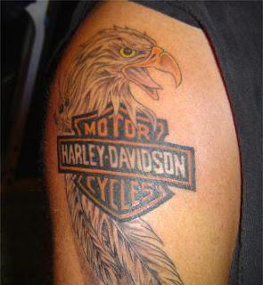 hand tattoos harley davidson