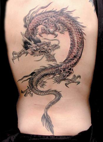 Party Dragon Tattoos For
