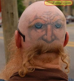 head funny tatto design