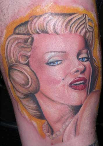 Once again, there's probably a zillion Marilyn Monroe tattoos out there…this