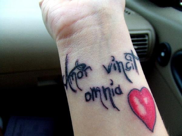 love tattoos on wrist designs. love and saying quote tattoos For Omnia Love Quote tattoos On Wrist