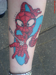 funny spiderman tattoos