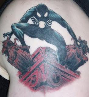 3d spiderman tattoos
