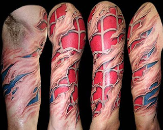 3d spiderman tattoos ideas