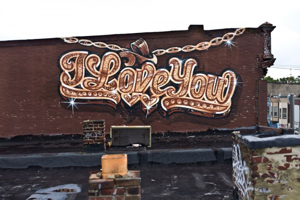 "Graffiti Letters Love "" I Love You """