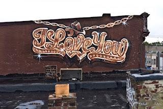 I love You Graffiti Alphabet Design