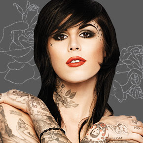 neck tattoos ideas kat von d