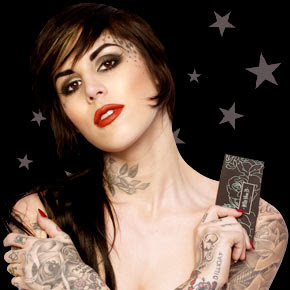 kat von d neck tattoos