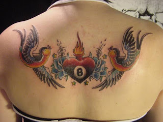 lower back tattoos birds