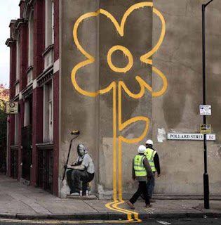 graffiti flower bansky ideas