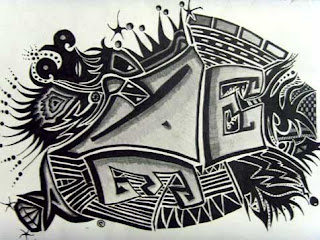 black white graffiti design