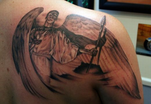 satanic tattoos. satanic tattoos. Angel tattoos offer hope and a