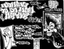 mr wiggless graffiti black and white design