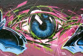 graffiti eye full color wallpaper